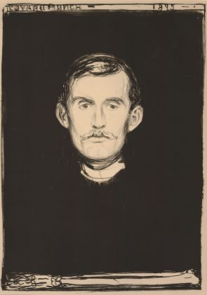 Edvard Munch (1863 1944). Self Portrait, 1895. © The Trustees of the British Museum
