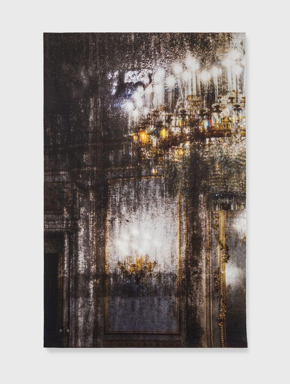 Elisa Sighicelli, Untitled (9178), 2018, 214 x 143 cm, fotografia stampata su raso