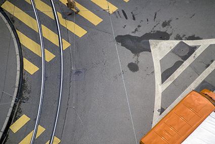 Franco Fontana, Zurigo, 1981, Stampa Colour Fine Art Giclée, Hahnemuhle Baryta FB 350 gsm su Dibond. 136x200 cm Copyright Franco Fontana. Courtesy Franco Fontana Studio
