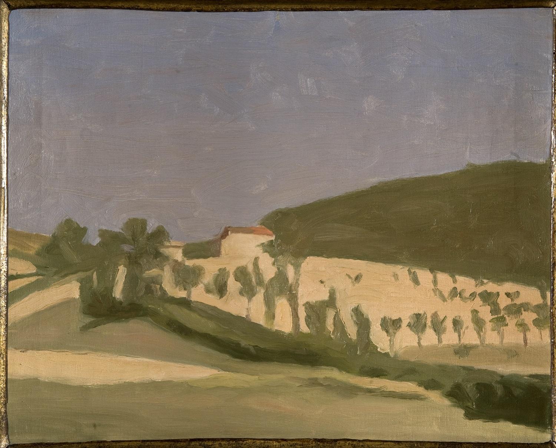 Giorgio Morandi, Paesaggio, 1943, olio su tela. Courtesy Collezione Banca Monte dei Paschi di Siena, ph. Lensini, Siena