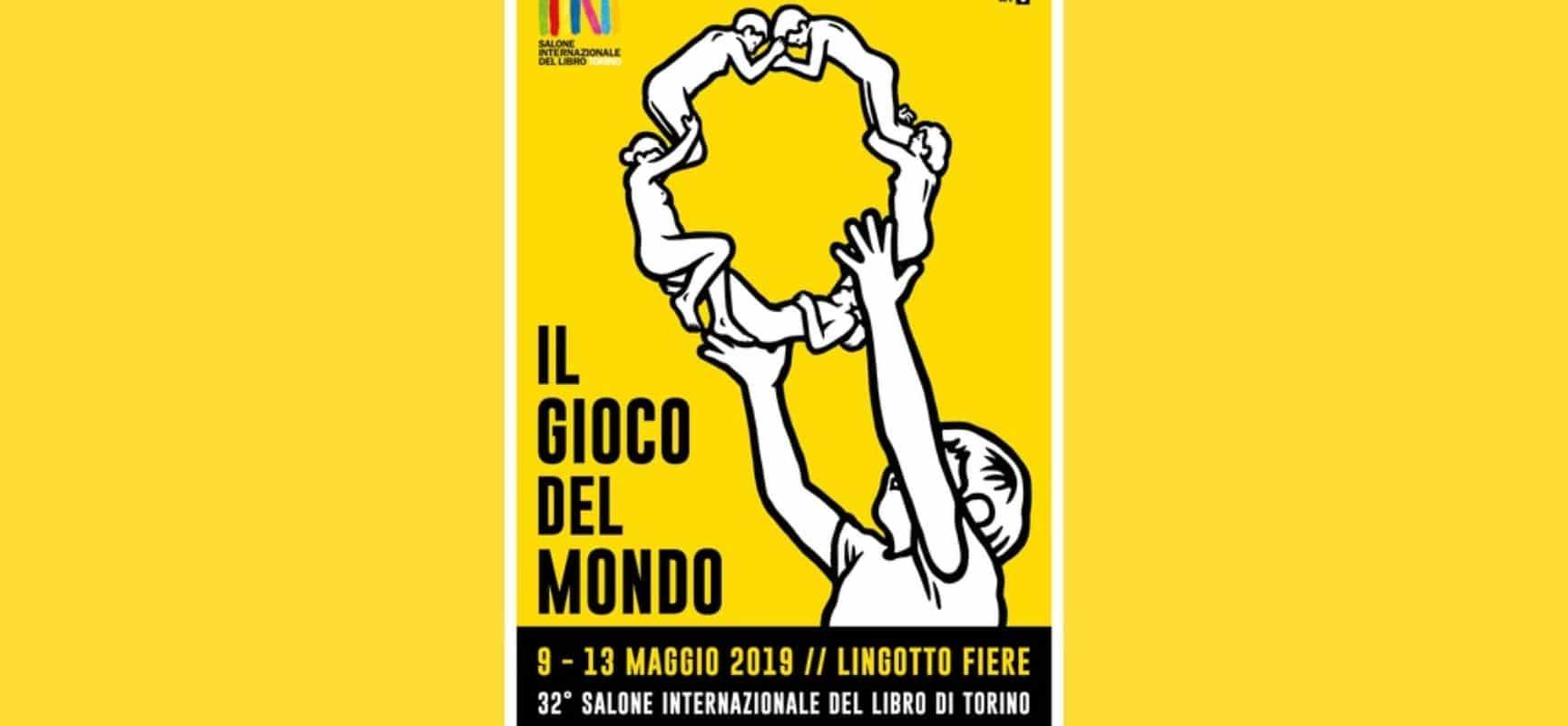 Il manifesto per il Salone del Libro di Torino 2019, realizzato dall'artista MP5