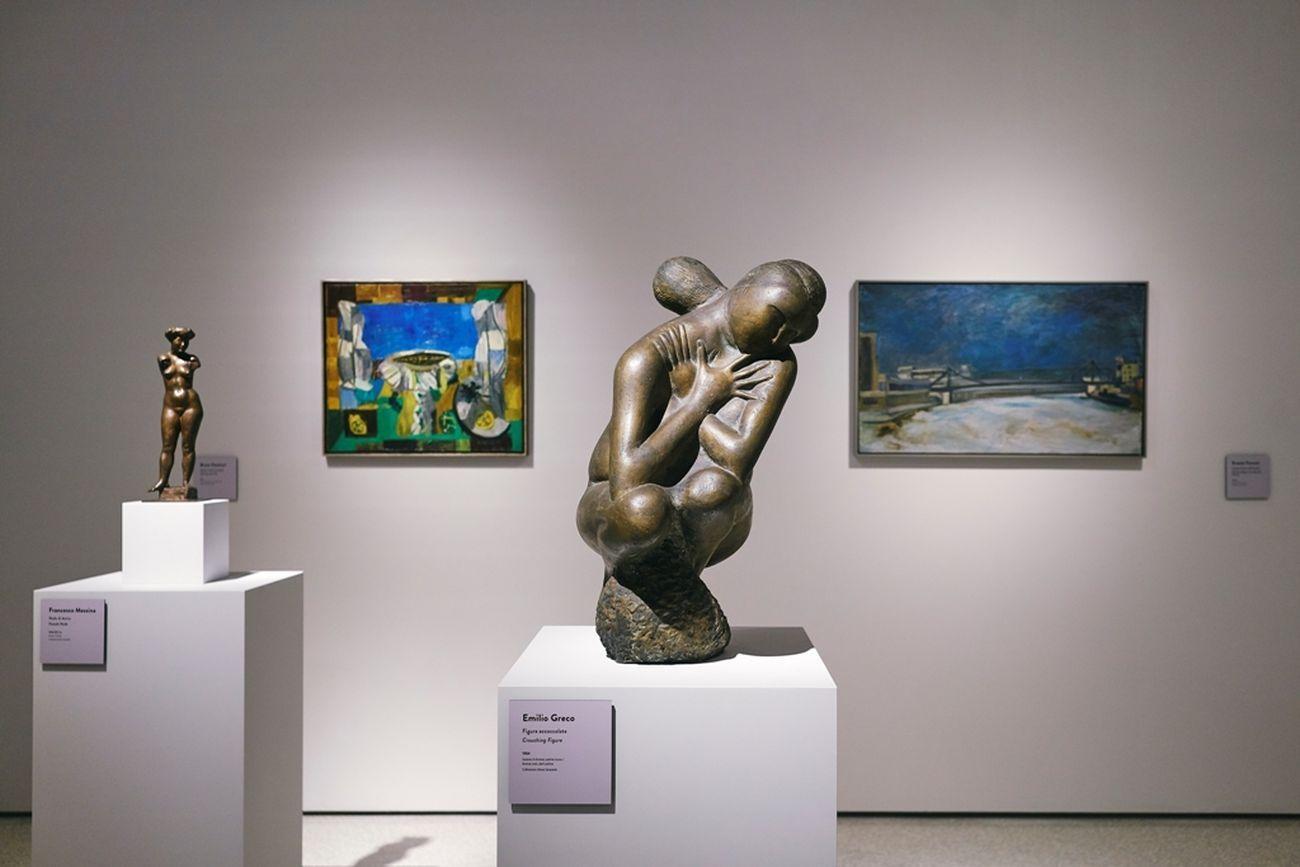 Italia Moderna, 1945-1975. Installation view at Fondazione Pistoia Musei, Pistoia 2019. Photo Lorenzo Gori