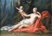Jacopo Amigoni, Venere e Amore, 1739 40 ca., olio su tela, 47,6 x 69 cm