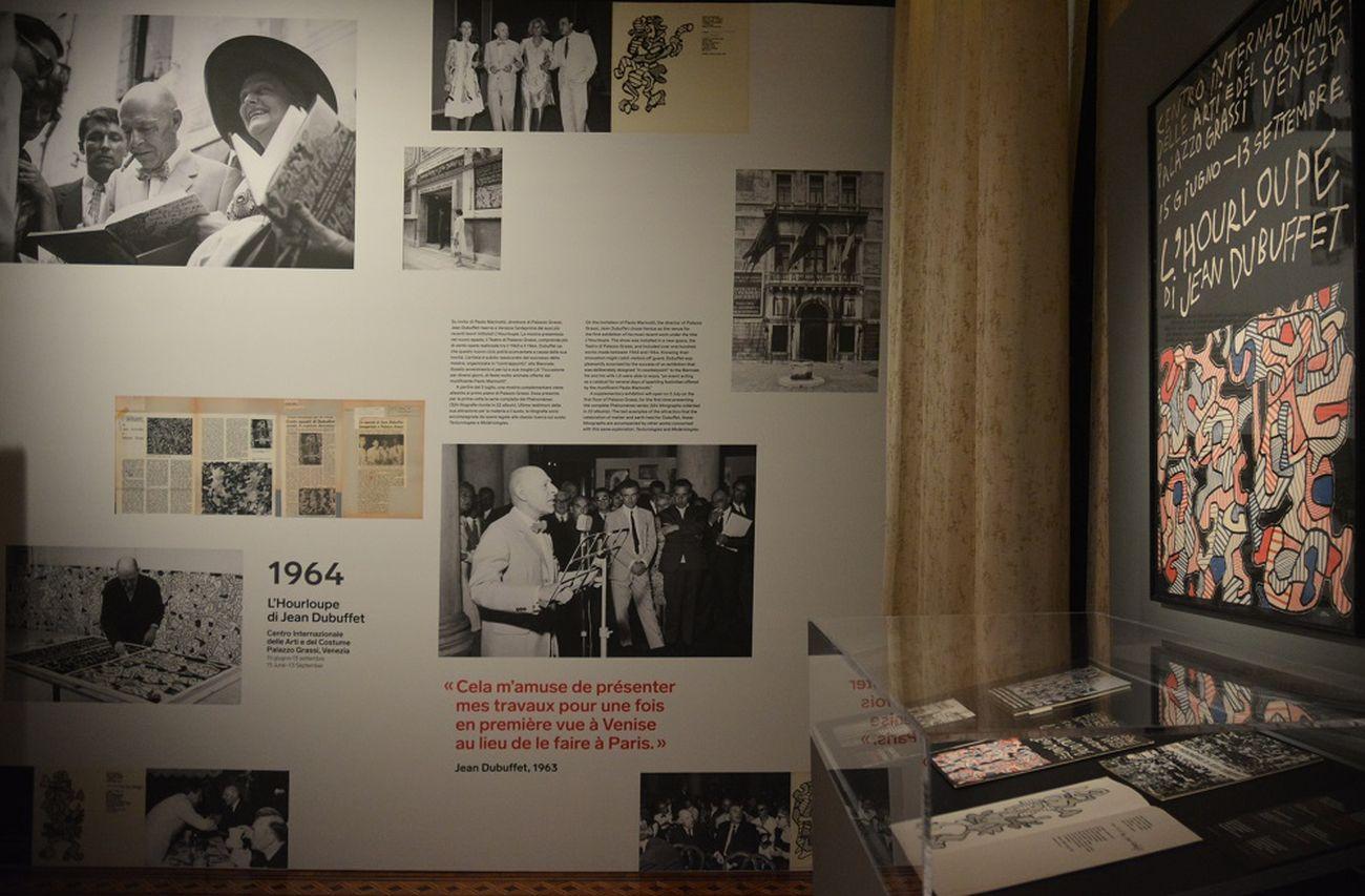 Jean Dubuffet e Venezia. Documentazione fotografica del vernissage della mostra L'Hourloupe, 1964. Palazzo Franchetti, Venezia 2019. Photo Linda Kaiser