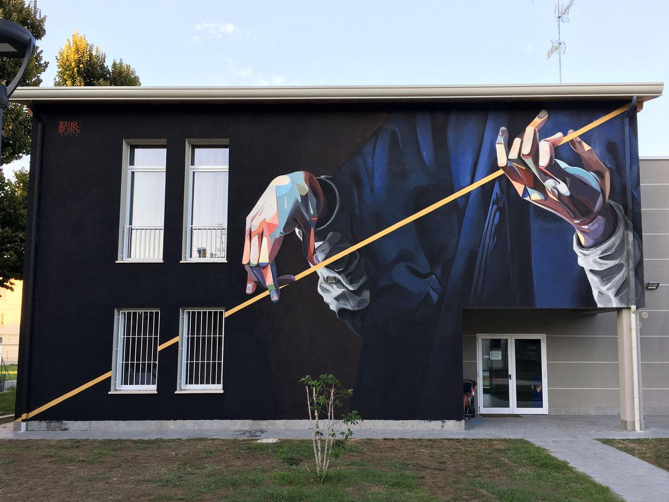 Lucio Basik Bolognesi, San Luca accorda la sua immagine tramite la diagonale della stessa, Novi di Modena 2017