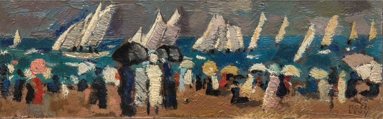 Moses Levy, Folla alla regata, 1919. Collezione privata, Viareggio