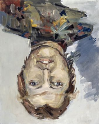 Georg Baselitz, Porträt Thordis Möller (Portrait of Thordis Möller), 1970, oil and synthetic polymer paint on canvas, 63 x 51 in162 x 1230 cm. Private Collection