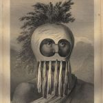 Thomas Cook after John Webber, A Man of the Sandwich Islands, in a Mask. The image appears on the vintage Hawaiian shirt, 1784 © The Trustees of the British Museum
