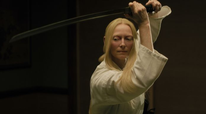 """Tilda Swinton stars as """"Zelda Winston"""" in writer/director Jim Jarmusch's THE DEAD DON'T DIE, a Focus Features release. Credit : Frederick Elmes / Focus Features © 2019 Image Eleven Productions, Inc."""