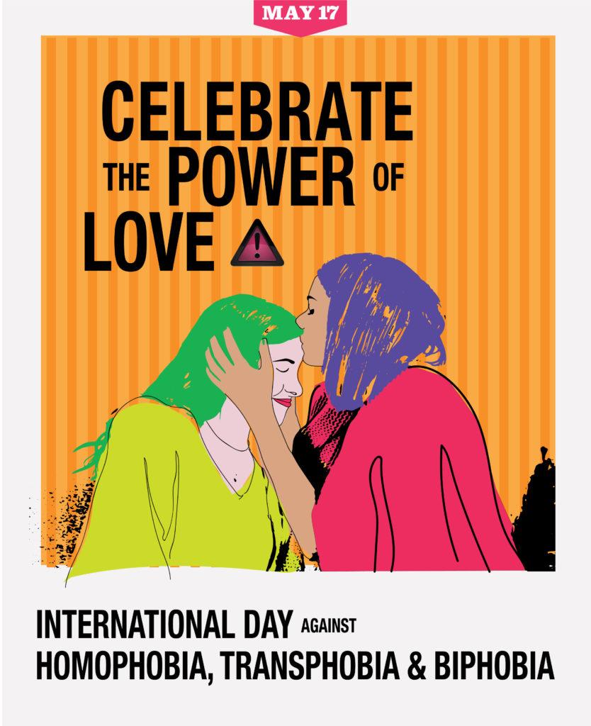 Uno dei poster per la Giornata Internazionale contro omofobia e transfobia e bifobia, 17 maggio 2019