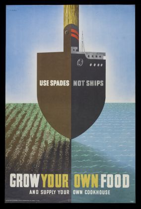 'Use Spades Not Ships', poster by Abram Games, 1941-45. © Estate of Abram Games