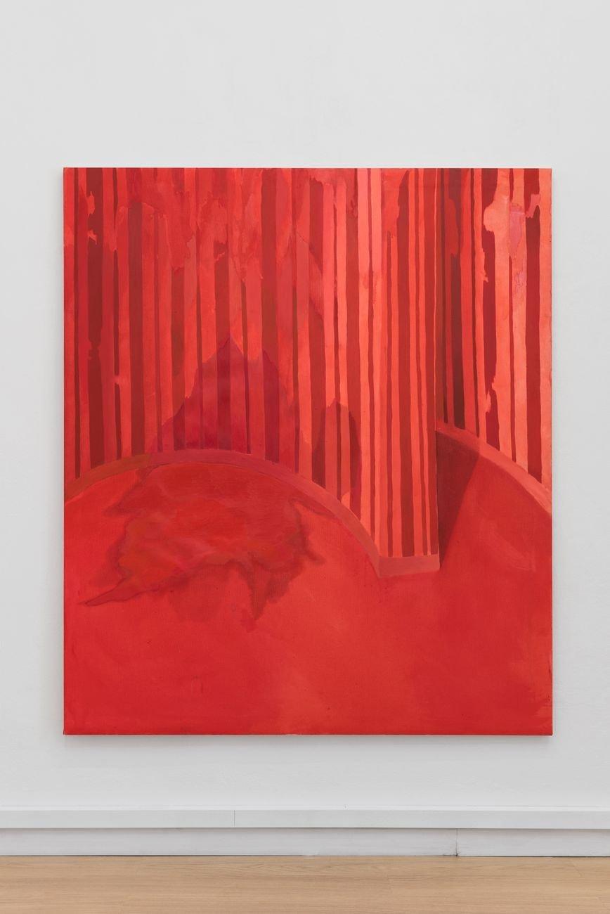 Valerio Nicolai, Toilette, 2019, olio e acrilico su tela, 185x160 cm