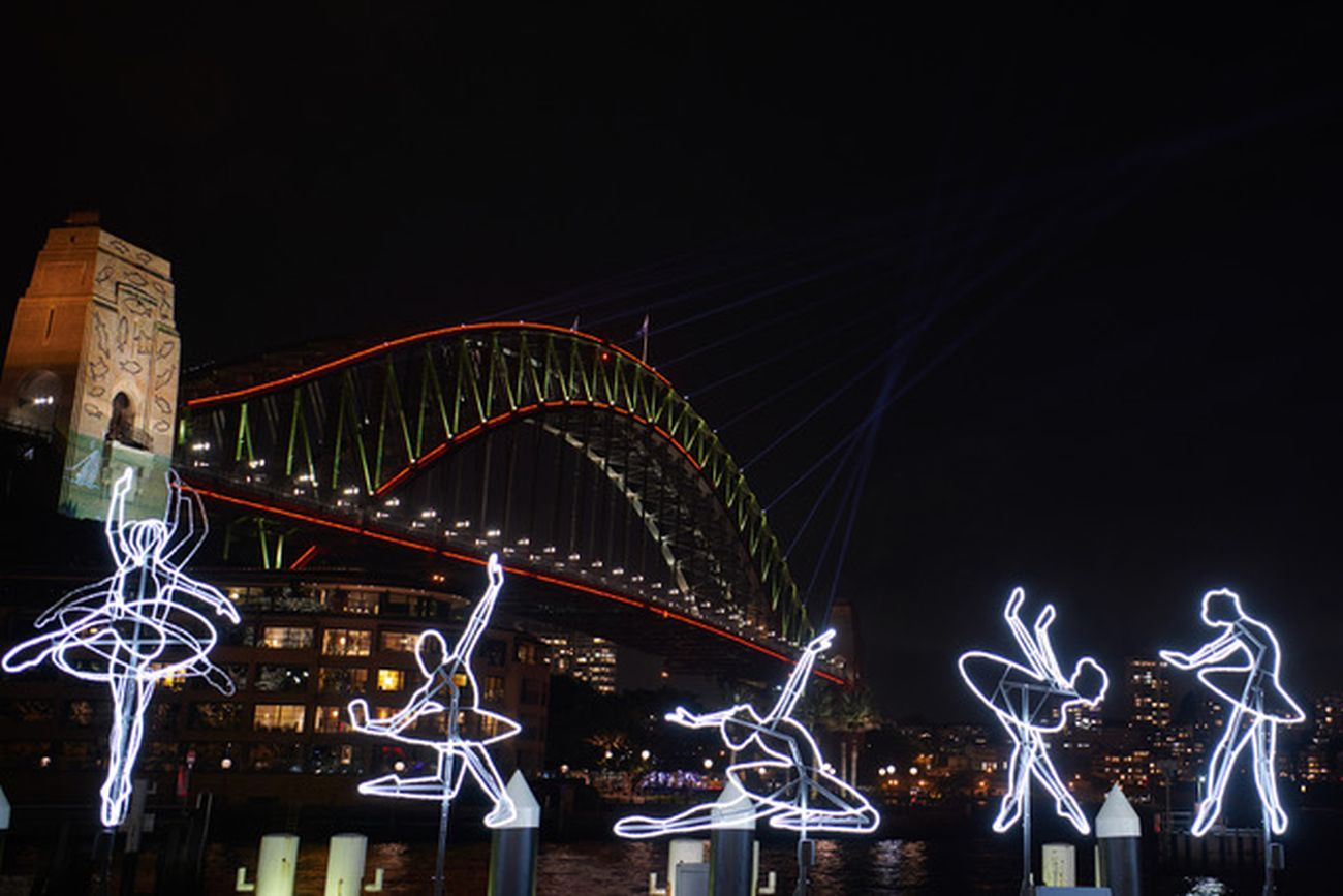 Vivid Sydney 2019. Angelo Bonello, Ballerina. Photo credit Destination NSW