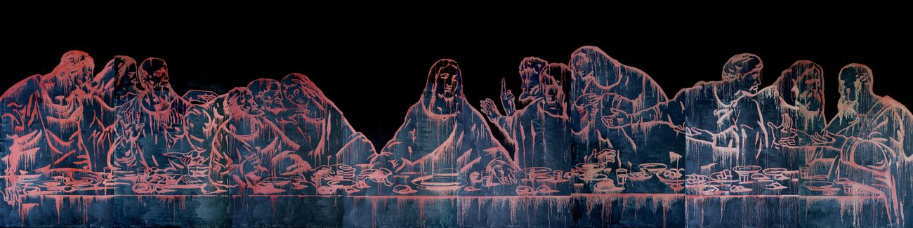 Wang Guangyi, The Last Supper (New Religion), 2011. Courtesy the Artist & Fondazione Stelline, Milano
