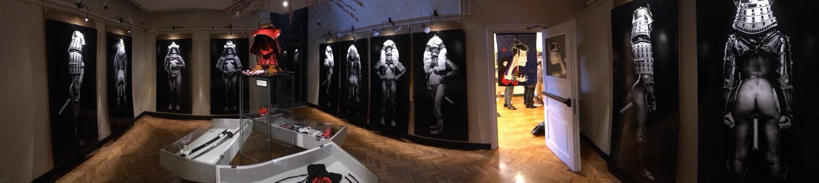 Installation view della mostra di Luca Vecchi a Palazzo Besso, Roma