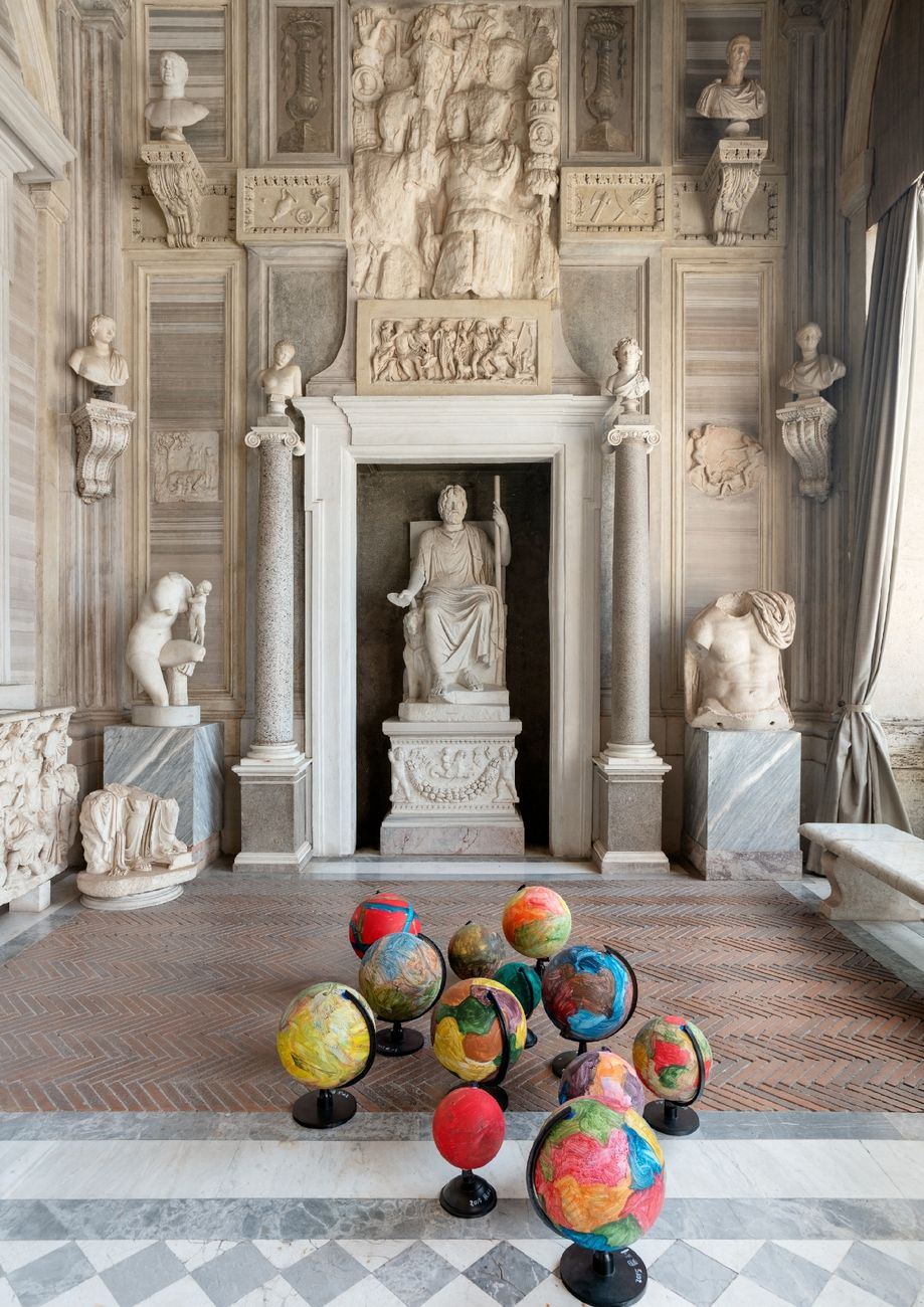 Zhang Enli. Bird Cage, a temporary shelter. Installation view at Galleria Borghese, Roma 2019