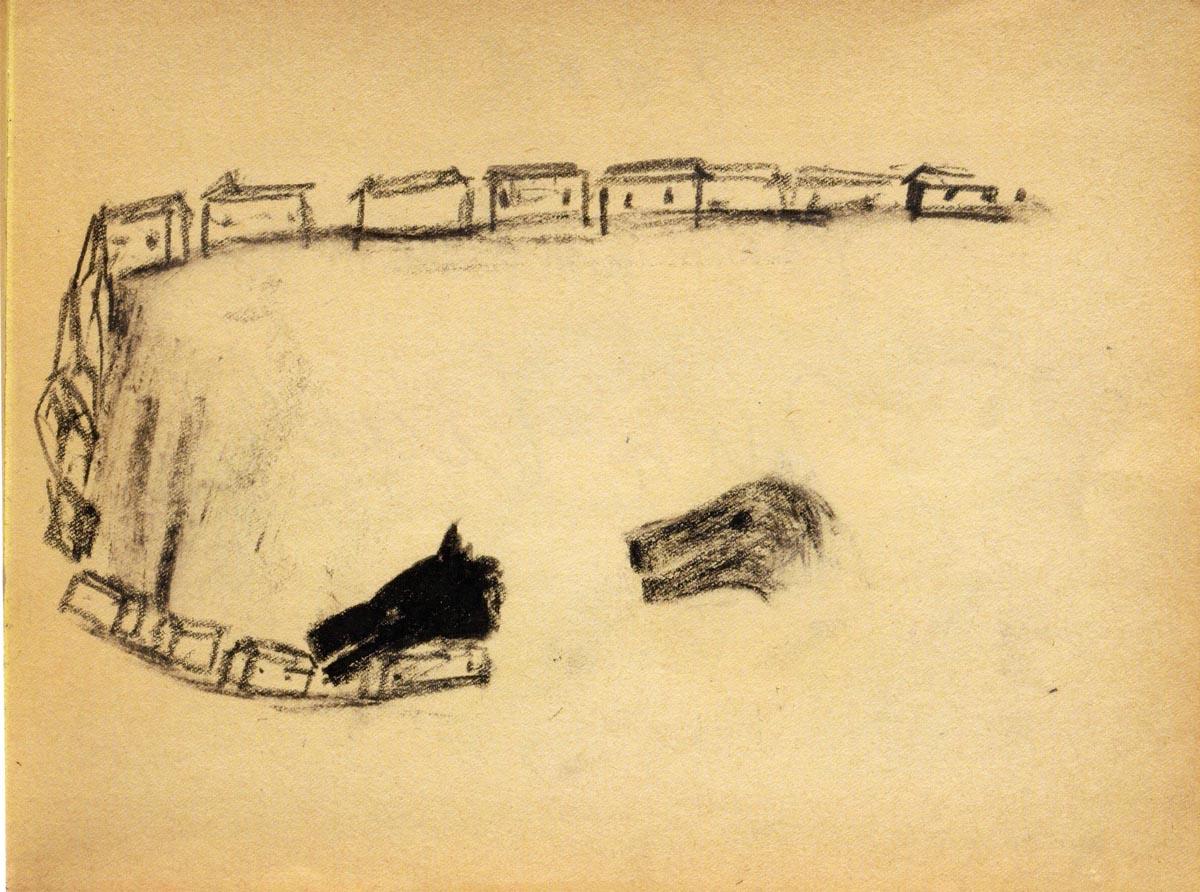Enzo Cucchi N.11, 1994 matita e carboncino su carta, cm 23x30,5 Courtesy Galleria Poggiali