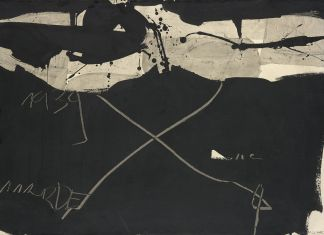 Manolo Millares, Sin título, 1963, mixed media on paper mounted on canvas, 70.7 x 100 cm, Copyright the artist, Courtesy of Waddington Custot