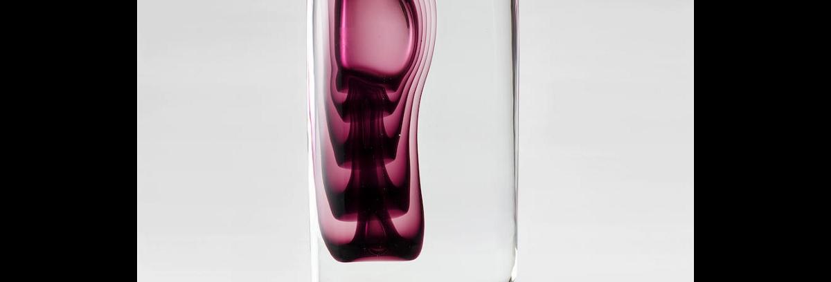 Gino Cenedese (1907 1973) and Antonio Da Ros (1936 2012), Vetri Sommersi Contrappunto Sasso Vase, 1977, for Vetreria Gino Cenedese, sommerso glass, engraved 'Cenedese Murano 1977'