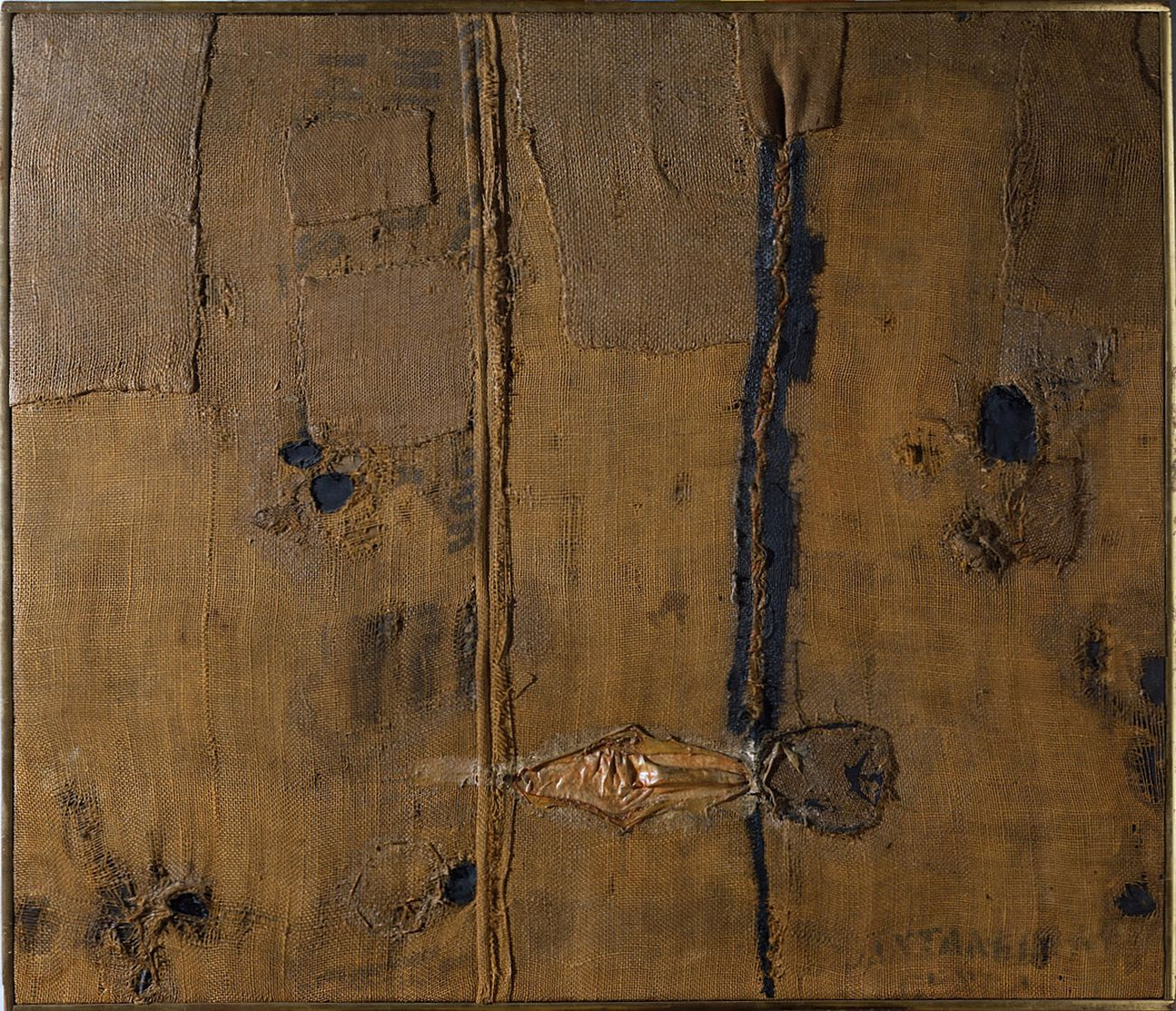 Alberto Burri, Sacco, 1953. Fondazione Torino Musei Galleria d'arte Moderna