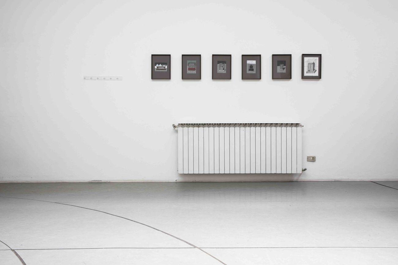 Andrea Branzi. Archetipi. Installation view at Antonia Jannone, Milano 2019. Courtesy Antonia Jannone Disegni di Architettura. Photo Henrik Blomqvist