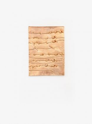 Argianas, Clay Pressing 1 (swimmer's arm are oars, your palm are oval), 2018, courtesy Marignana Arte, Venezia 2019, photo Enrico Fiorese