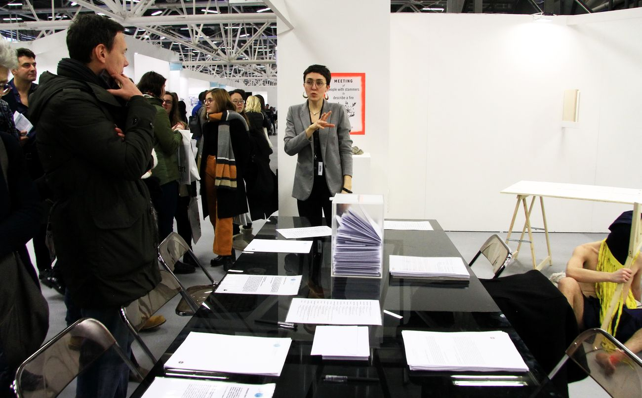 Artworks that ideas can buy _ Oplà – Performing Activities. Courtesy Arte Fiera. Photo Luca Ghedini