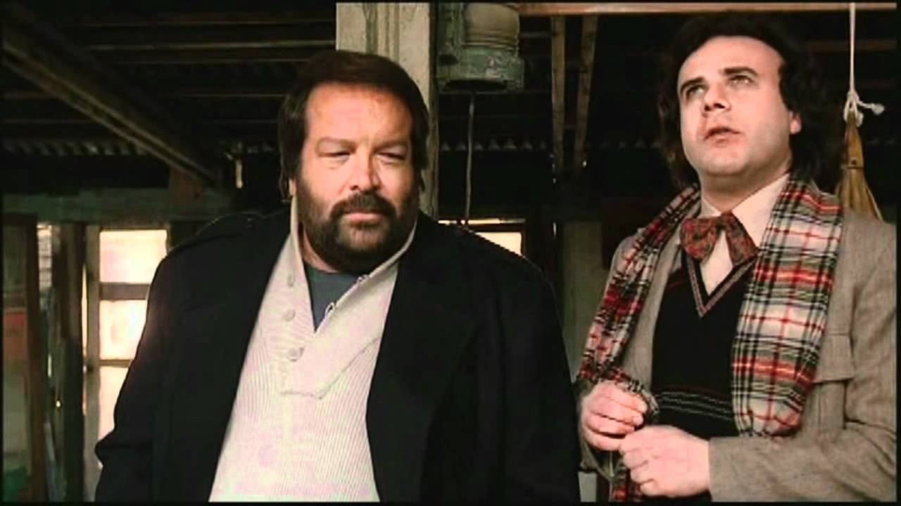 Bud Spencer con Jerry Calà in Bomber