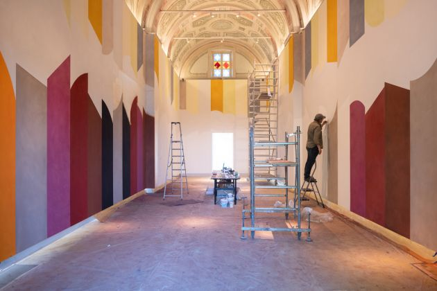 Cappella Relais San Maurizio, Work in progress David Tremlett Photo Credits Luisa Porta