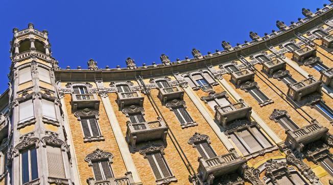 Casa A Crescent in stile Liberty a Torino Ph. Franco Bussolino