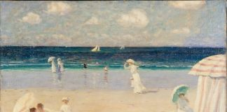 Clarence Gagnon, Summer Breeze at Dinard, 1907 © Musée national des beaux arts du Québec Photo MNBAQ, Jean Guy Kérouac