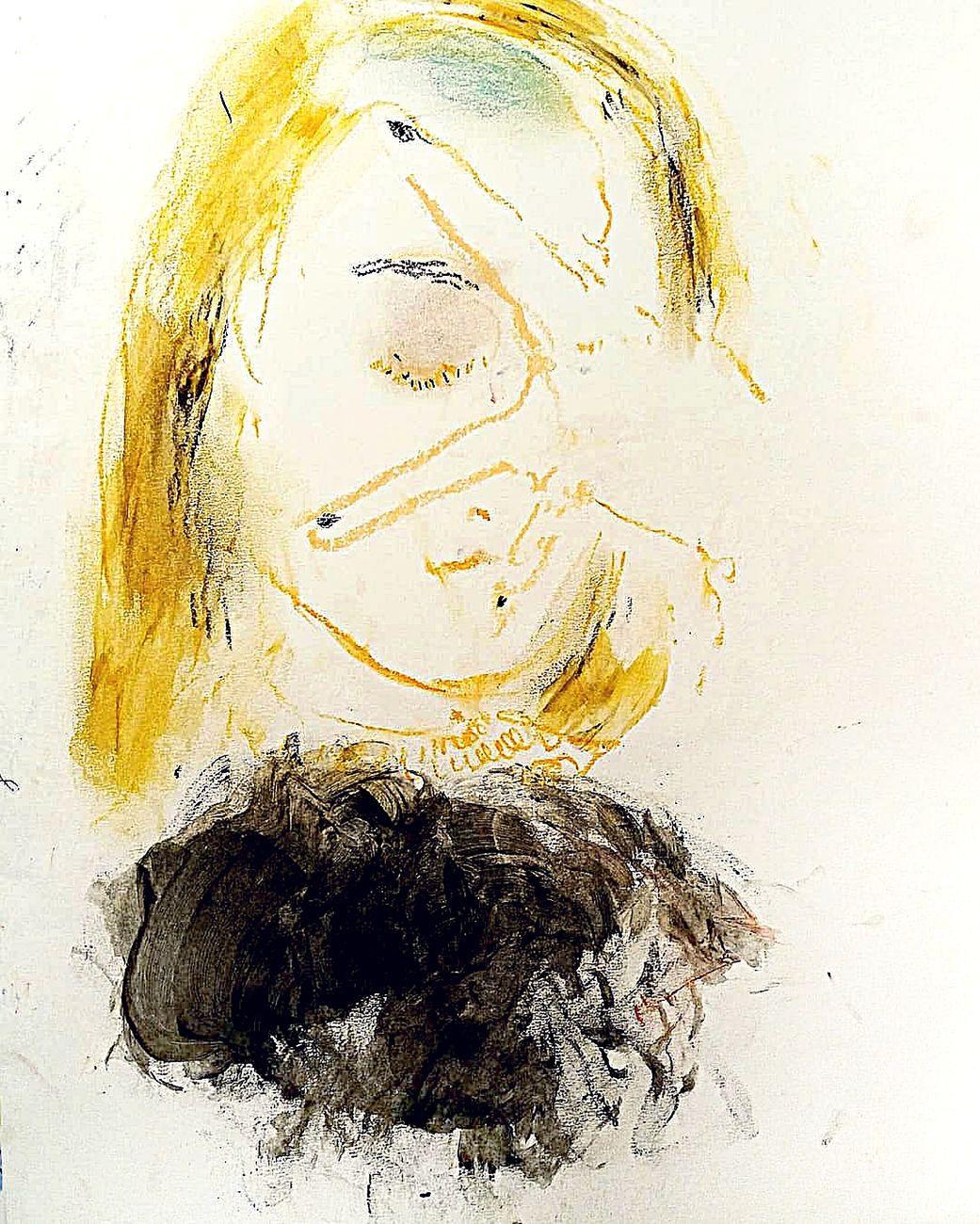 Elisa Filomena, Donna, pastelli su carta, cm 35x55, 2018