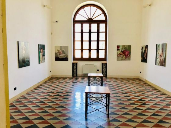 Evita Andujar. Camera picta. Installation view at Museo Pietro Cavoti, Galatina 2019