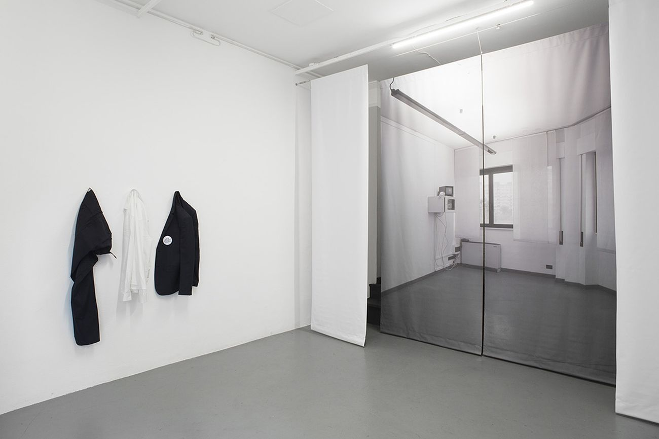 Fabrizio Vatieri, Dominare spiritualmente il progresso. Installation view at Nowhere Gallery, Milano 2017