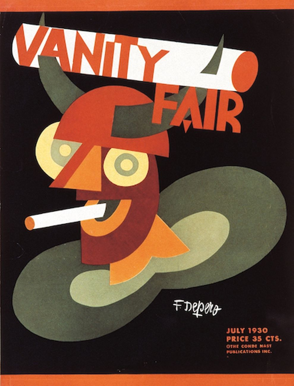 Fortunato Depero, Vanity Fair, 1930. Courtesy Lucca Center of Contemporary Art