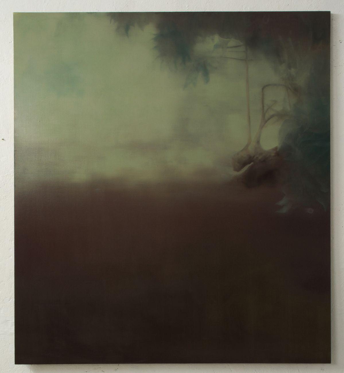Giulio Saverio Rossi, Die verkehrte Welt #2, 2018, olio su lino, 182x160 cm