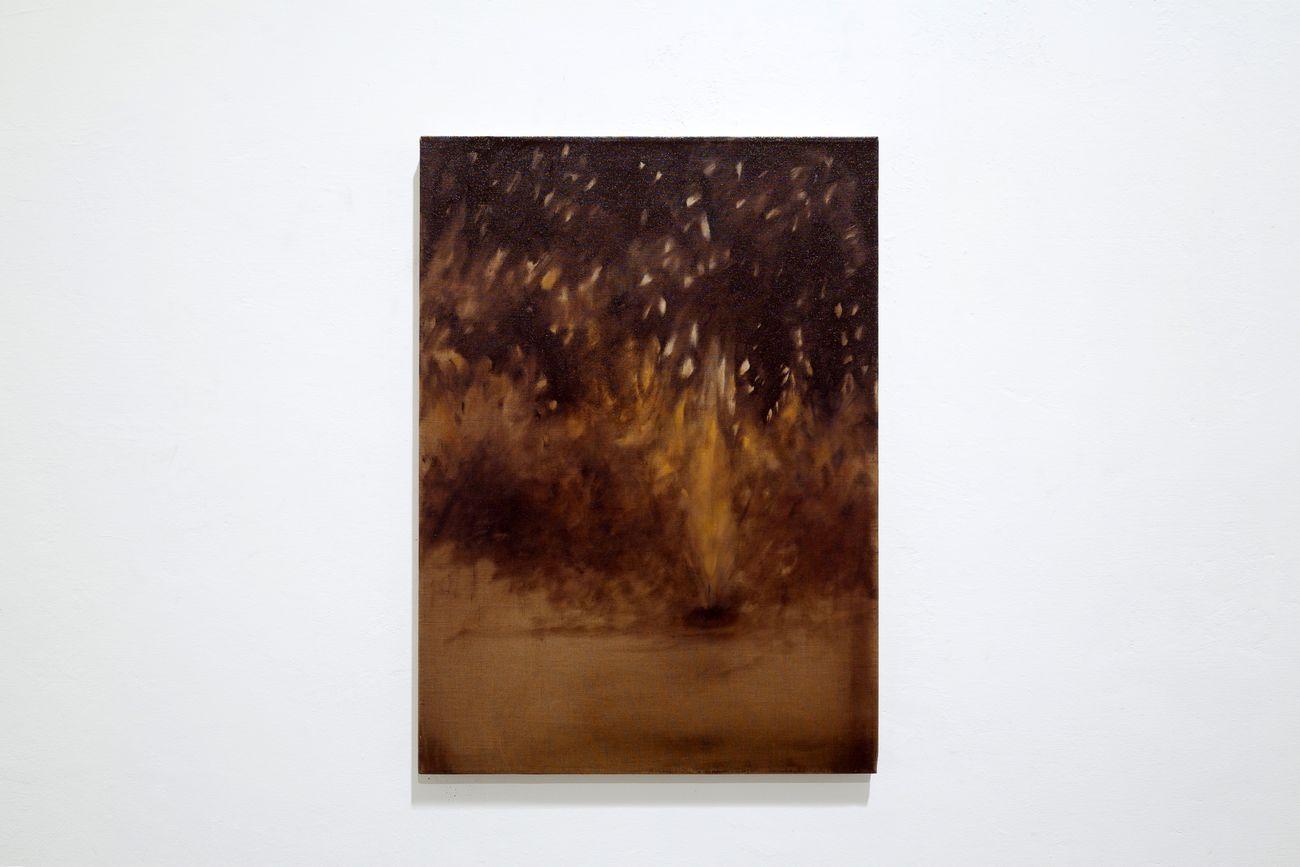 Giulio Saverio Rossi, Studio per una fiamma, 2019, olio su lino, 55x38,5 cm. Courtesy SenzaBagno. Photo Pierluigi Fabrizio