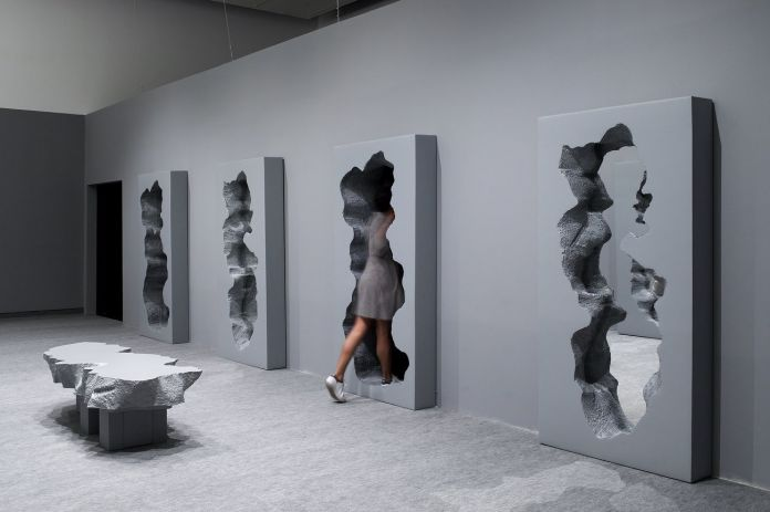Hall of Broken Mirrors, Snarkitecture in collab with Gufram. Image Credit Elad Sarig