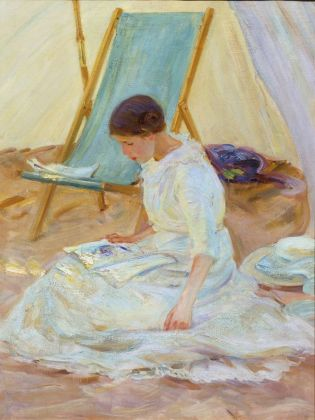 Helen McNicoll, In the tent, 1914 © Private collection, Toronto. Photo Thomas Moore