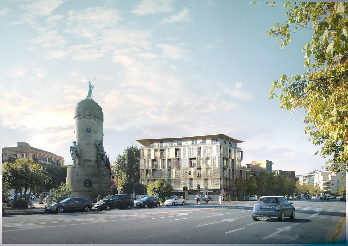 Il nuovo edificio dello studio It's che avrebbe sostituito Villa Paolina