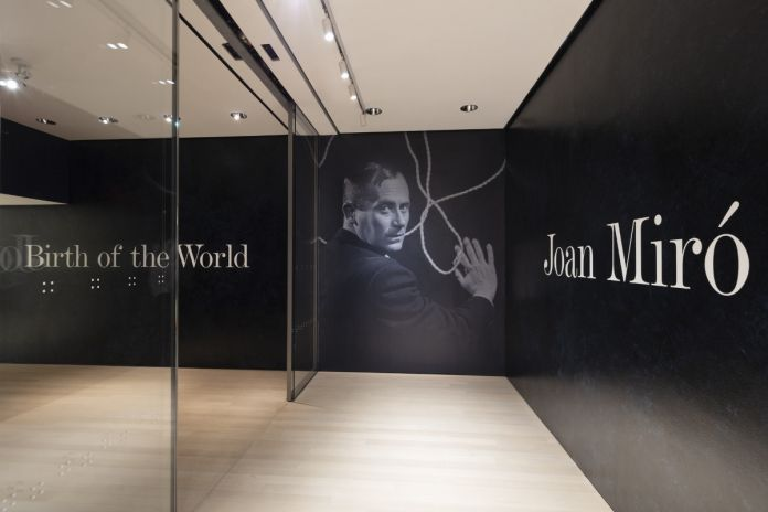 Installation view of Joan Miró Birth of the World, The Museum of Modern Art, New York © 2019 The Museum of Modern Art. Photo Denis Doorly