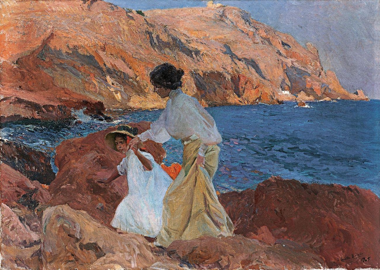Joaquín Sorolla, Clotilde ed Elena sugli scogli, Jávea, 1905. Esther Koplowitz Collection © Archivo fotográfico BPS