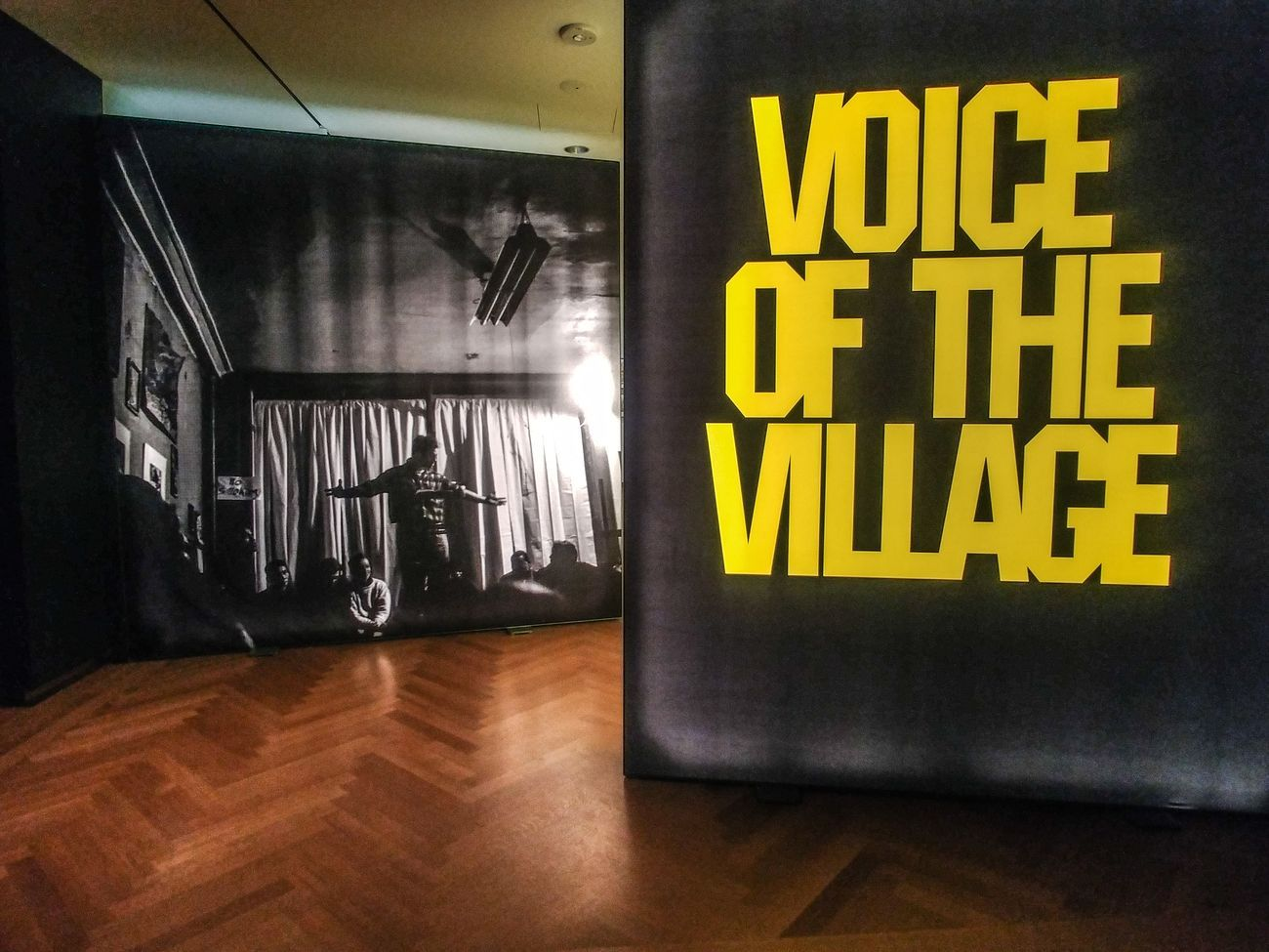 L'ingresso alla mostra Voice of the Village al Museum of the City of New York. Photo Maurita Cardone
