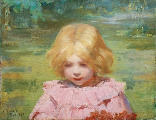 Laura Muntz, The pink dress, 1897 © Private collection, Toronto. Photo Thomas Moore