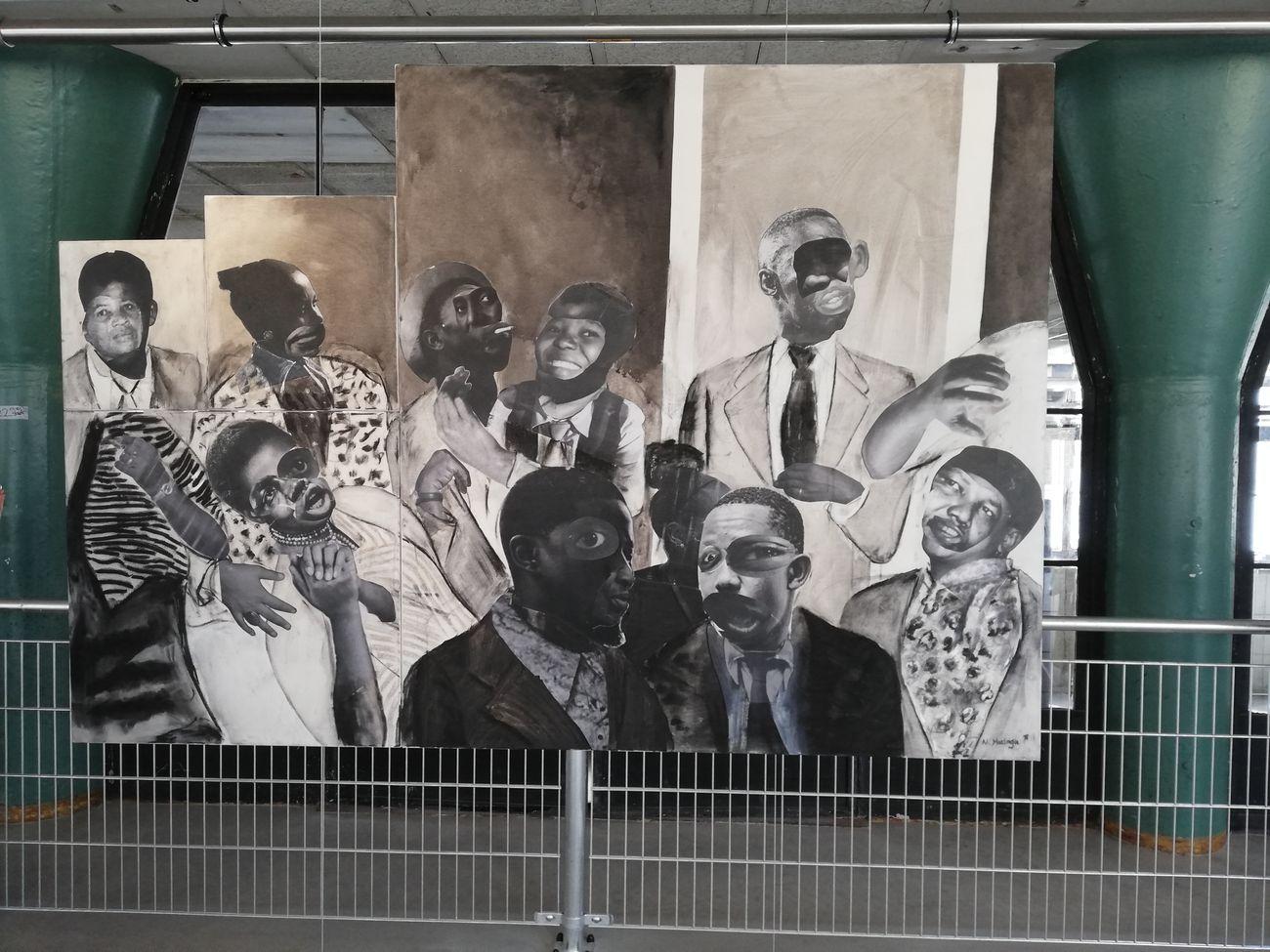 L'opera del giovane sudafricano Neo Matloga, O Ska Ngkarametsa, 2018, Het HEM, Amsterdam. Photo Daniele Perra