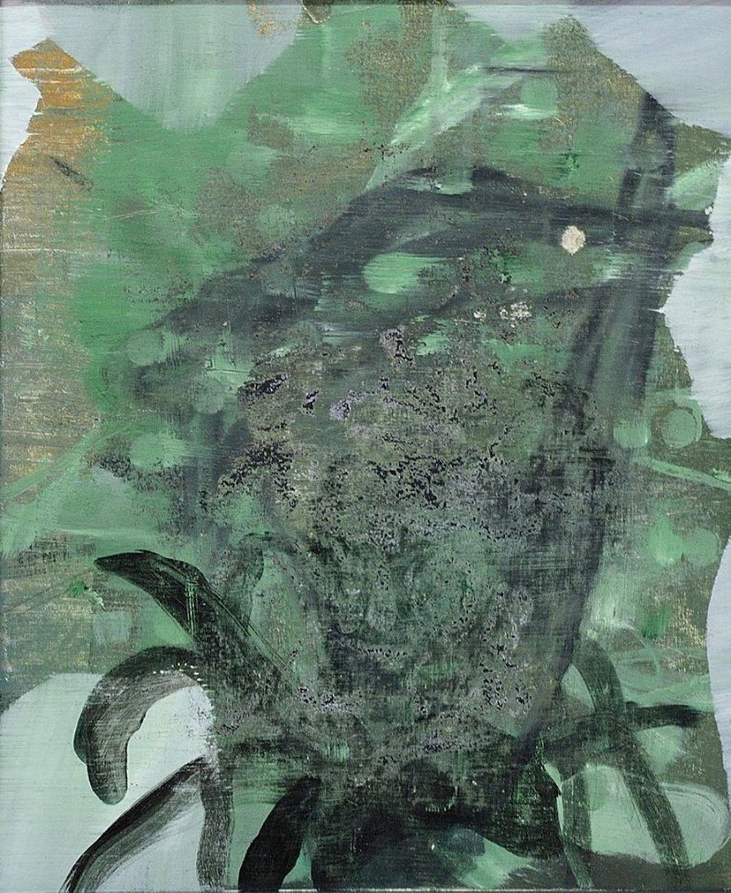 Lorenzo Di Lucido, Erased 2017, olio su tela, 46x38 cm