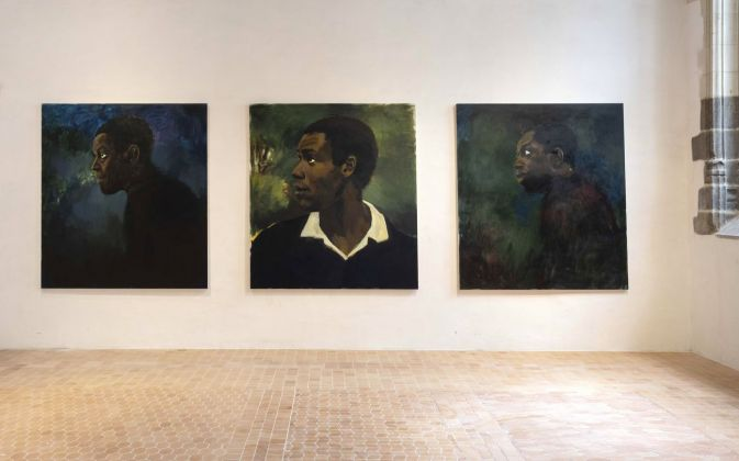 Lynette Yiadom-Boakye, Uncle of The Garden, 2014. Photo © Marcus Leith, London. Courtesy of Corvi Mora, London & Jack Shainman Gallery, New York © Collection Pinault