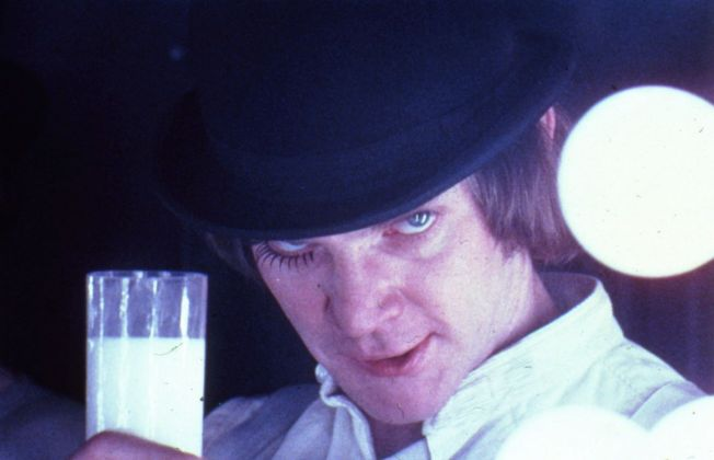 Malcolm McDowell in Arancia Meccanica di Stanley Kubrick (1970 71) © Warner Bros. Entertainment Inc.