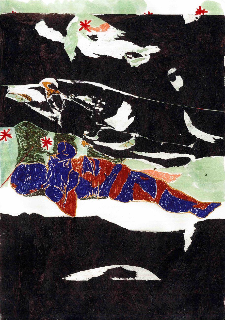 Marta Spagnoli, 80, 2017, tecnica mista su carta, 21x14,8 cm cadauno. Courtesy l'artista