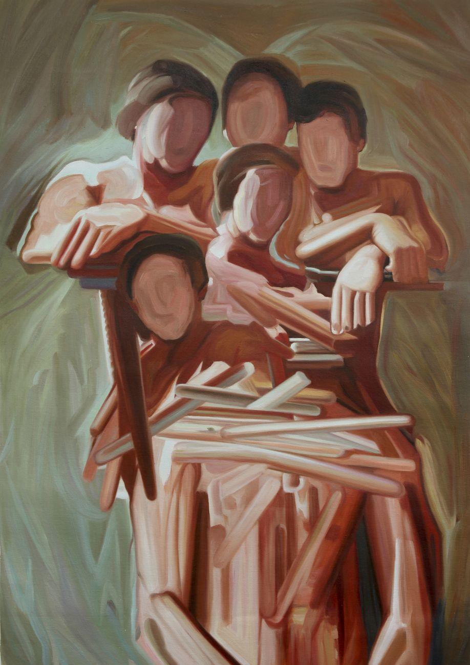 Maurizio Bongiovanni, Relationship, 2014, oil on canvas, 70x100 cm